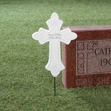 personalized memorial cross stake 354800 personalized memorial cross stake 354800