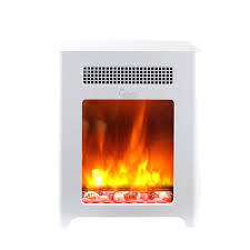 compact electric fireplace freestanding heater