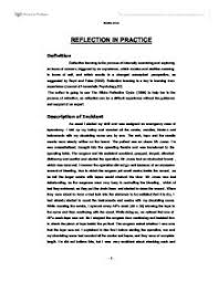 reflection in practice university subjects allied to medicine  page 1 zoom in