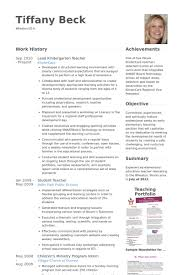 ... Redoubtable Kindergarten Teacher Resume 8 Kindergarten Teacher Resume  Samples ...