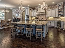 Kitchen With Hardwood Floors Traditional Kitchen With Hardwood Floors Chandelier In Mc Gregor