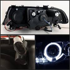spyder projector headlights bmw m3 e46 [led halo black] (01 06) 5008923 Halogen Headlights at Spyder Headlight Replacement Wire Harness