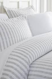 image of ienjoy home home spun premium ultra soft 3 piece puffed rugged stripes duvet