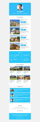 Real Estate Newsletter Template Real Estate Agency Responsive Newsletter Template 24 20