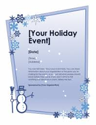 Holiday Flyer Template Word Special Winter Holiday Event Flyer Template My Favorite Internet