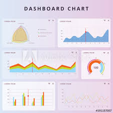 Business Data Market Elements Dot Bar Pie Charts Diagrams