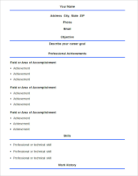 Basic Format Resume Template. Free Download