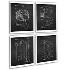vintage drum posters set of 4 unframed patent art chalkboard gift for drummer 8x10 wall on metal drum set wall art with amazon drums set metal sign music studio art retro vintage