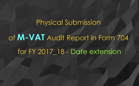 Vat Chart For Fy 2017 18 Physical Submission Of M Vat Audit Report In Form 704 For Fy