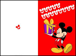 Free Printable Mickey Mouse Birthday Cards Mickey Mouse Printable