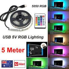 <b>5V</b> 5M 500CM <b>USB LED</b> Strip Light <b>RGB</b> 5050 TV Back COLOUR ...