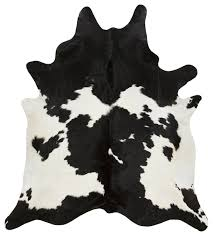 black and white cowhide rug xl