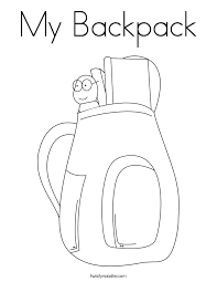 Small Picture Backpack Coloring Print Out Coloring Coloring Pages