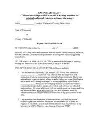 letter of affidavit sample 1