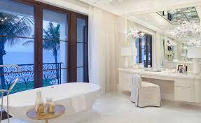 luxury dressing table in bathroom