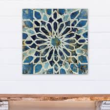 blue mediterranean kaleidoscope printed canvas wall art on mediterranean canvas wall art with designs direct 24 in x 24 in blue mediterranean kaleidoscope