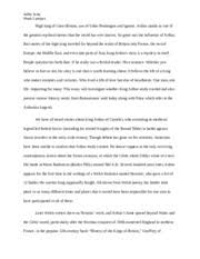 king arthur essay king arthur is a legendary british leader who  6 pages legend of king arthur