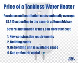 Average Cost Of Water Heater Cost To Buy Install A Tankless Water Heater At Home Ace Home