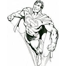 Disegno Di Superman Che Vola Da Colorare Per Bambini