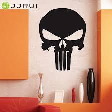 jjrui punisher skull wall decal vinyl