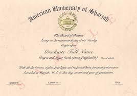Diplomas American University Of Sharjah