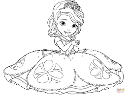 Small Picture Sofia The First Coloring Pages Sofia And Clover Coloring Page Free
