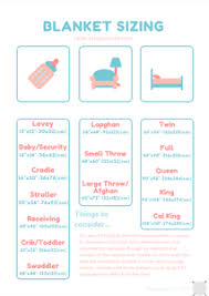 Free Printable Blanket Size Chart