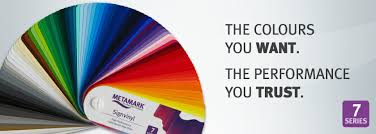 Universal Products Vinyl Color Chart Metamark 7 Series Sign Vinyl Materials Manufacturer And
