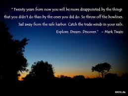 Mark Twain Travel Quote Explore Dream Discover