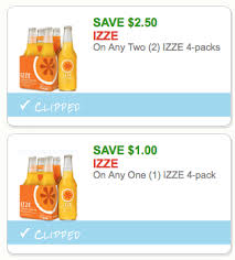 Sparkling Image Coupons Two Rare Izze Sparkling Juice Coupons 63 A 4 Pack At