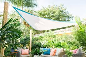 outdoor patio sun shade sail triangle diy embellished sail shade original bpf sail shade beauty horizjpgrend