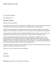 Athletic Coach Cover Letter Sample Athletic Cover Letter Multi