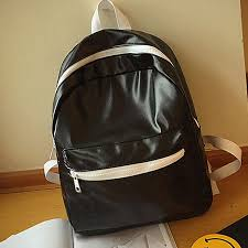 xiuxingzi girls boys leather school bag travel backpack satchel women shoulder rucksack bk