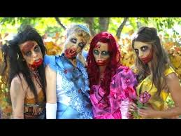 how to make zombie disney princess makeup and costumes