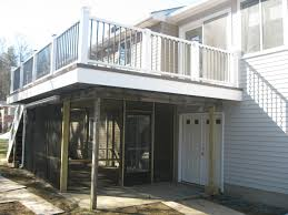 screen porch under a dry deck