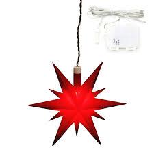 1er Set Plastik Weihnachtsstern Farbe Rot Inkl