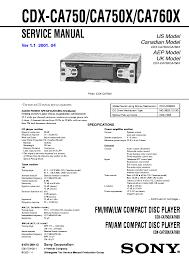 sony cdx ca750 x 760x ver1 1 service manual sony cdx ca750 x 760x ver1 1 service manual 1st page