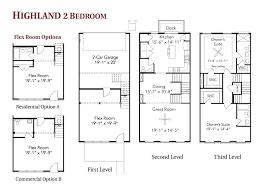 Highland 2 Bedroom LiveWork Townhome  Floor Plans  Regent HomesTownhomes Floor Plans