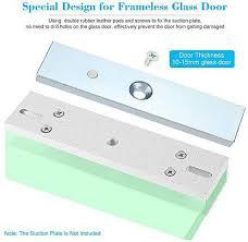 generic aluminium alloy u bracket 280kg 600lbs force holding magnetic lock stent clamp for frameless glass door