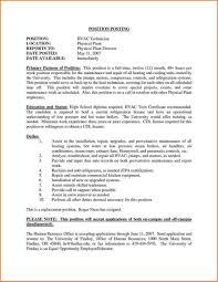 Hvac Technician Resume Sample Hvac Technician Resume Samples Job Examples Service Sample Entry 11