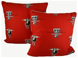 the texas tech red raiders decorative pillow set includes two 16 pillows pillows are printed with the same all over logo pattern to match college covers