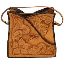 hand tooled leather purses for