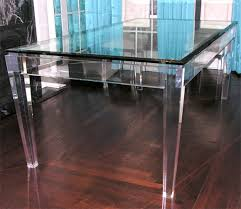 american acrylic and glass dining table for sale lucite dining table73