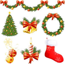 Christmas Decorations Logo Vector Eps Free Download
