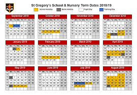 St Gregory's Catholic Primary School - Term Dates