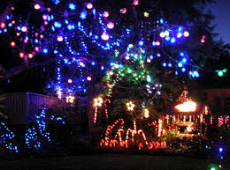 holiday lighting technology a variety of sizes shapes and colours can be seen among these lights