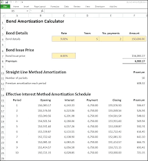 Bond Amortization Schedule Excel How To In Mortgage With