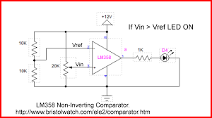 Op Amp Comparator Lm358 Op Amp Comparator With External Npn Open Collector