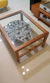 75192 custom coffee table for ucs millennium falcon toys bricks figurines on carou