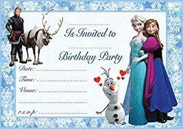 Frozen Birthday Invitations Frozen Elsa Anna Childrens Birthday Party Invites